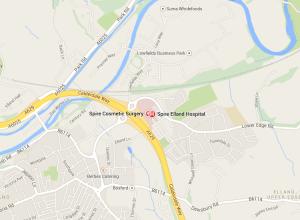 Spire Elland Hospital Map